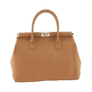 Skórzana torebka Italian Elegance, jasnobrązowa