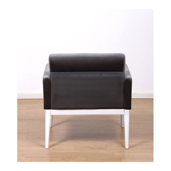Fotel z podnóżkiem Preston Charcoal