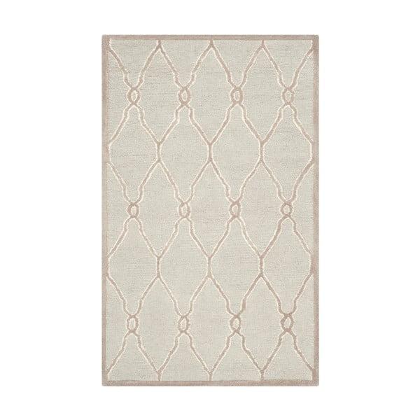 Wełniany dywan Augusta 91x152 cm, kremowy