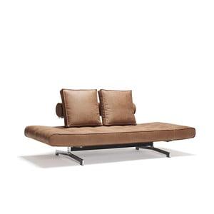 Brązowa sofa regulowana Innovation Ghia
