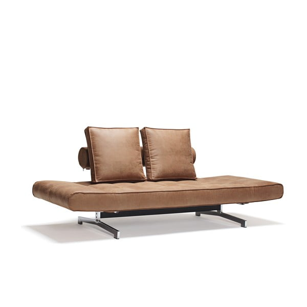 Brązowa sofa regulowana Innovation Ghia
