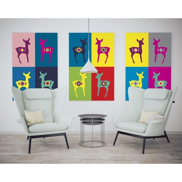 Plakat Sarenki Warhola, różowe, mały