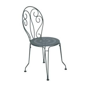 Ciemnoszare krzesło metalowe Fermob Montmartre