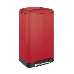 Czerwony kosz na śmieci Wenko, 30 l