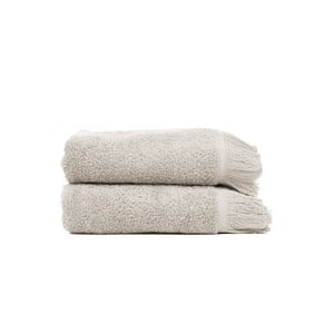 Komplet 2 jasnoszarych ręczników Casa Di Bassi Light, 50x90 cm