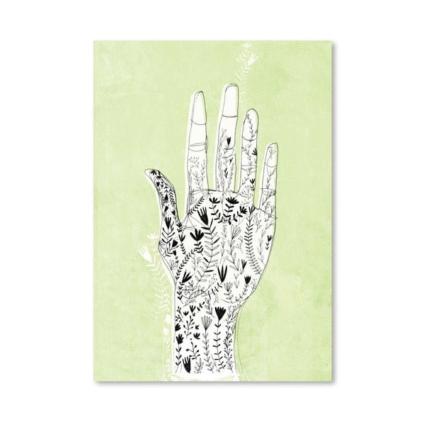 Plakat Floral Hand, 30x42 cm
