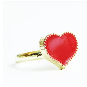 Pierścionek Red Heart