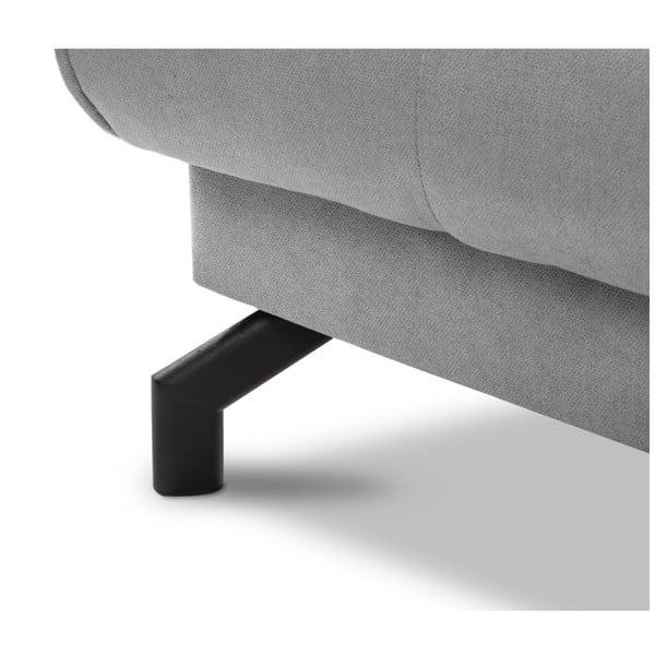 Szara rozkładana regulowana sofa 3-osobowa Kooko Home Musique