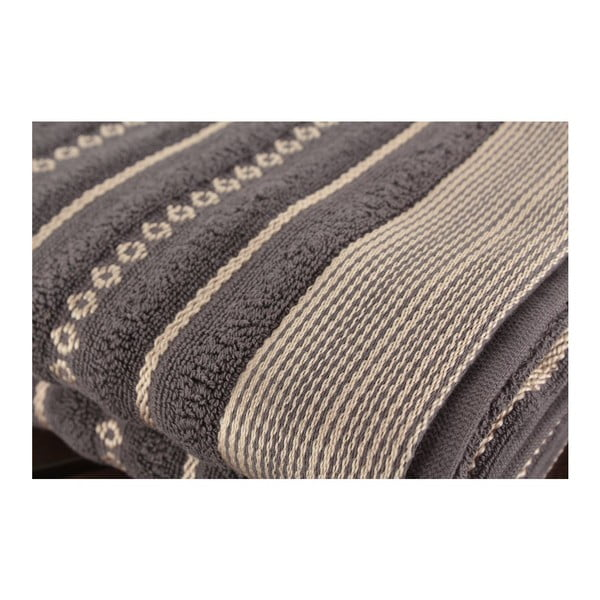 Zestaw 2 ręczników Bombeli Black, 50x90 cm