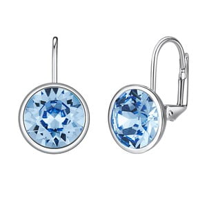 Kolczyki ze Swarovski Elements Glass Stone Blue
