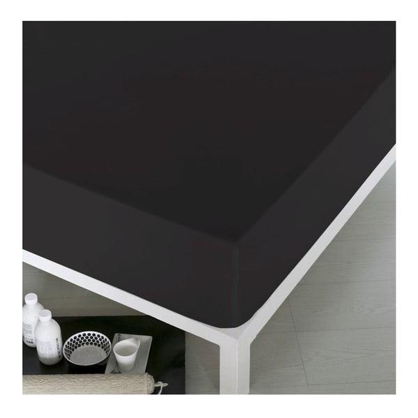 Prześcieradło Home Black, 100x200 cm