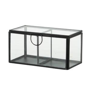 Szklany pojemnik Brass, czarny