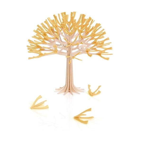 Składana dekoracja Lovi Season Tree Warm Yellow, 22 cm
