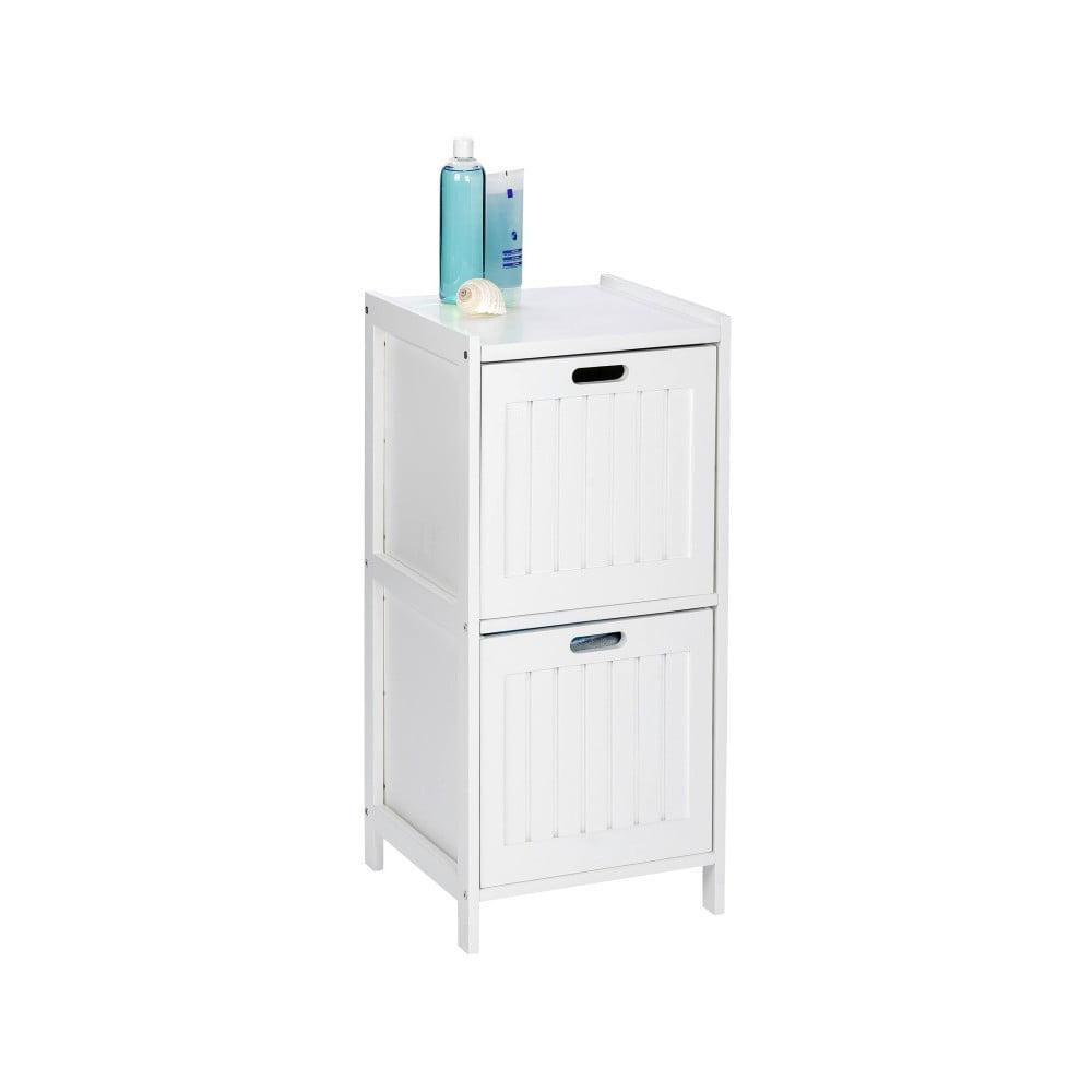 Biała drewniana szafka łazienkowa z 2 szufladami Wenko Oslo