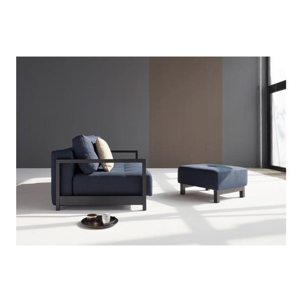 Ciemnoniebieska rozkładana sofa Innovation Bifrost Mixed Dance Blue, 115x210 cm