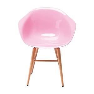Różowe krzesło z podłokietnikami Kare Design Forum