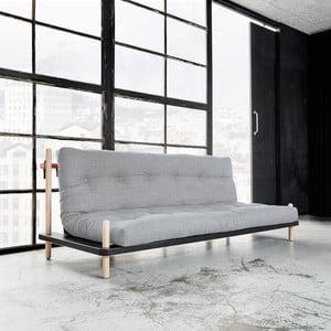 Sofa rozkładana Karup Point, Black/Raw Beech/Light Grey