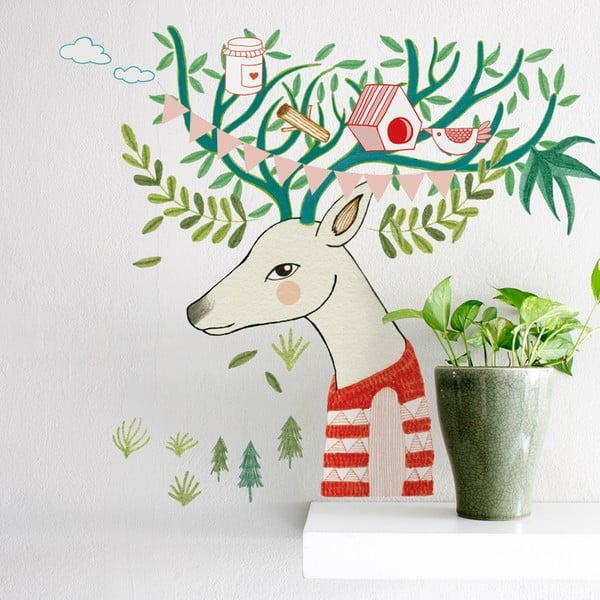 Naklejka Tree Deer, 41x57 cm