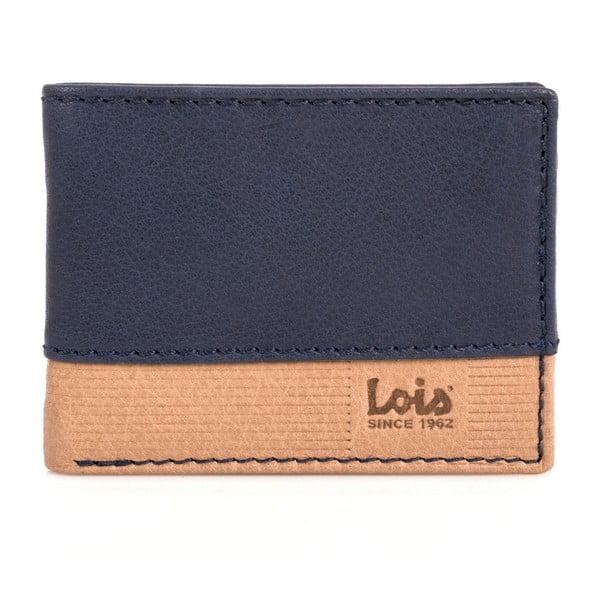 Skórzany portfel Lois Blue, 11x8 cm