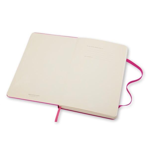 Notatnik Moleskine Hard 13x21 cm, różowy + czyste strony