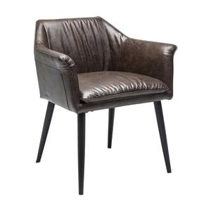 Ciemnobrązowe krzesło do jadalni Kare Design Diner