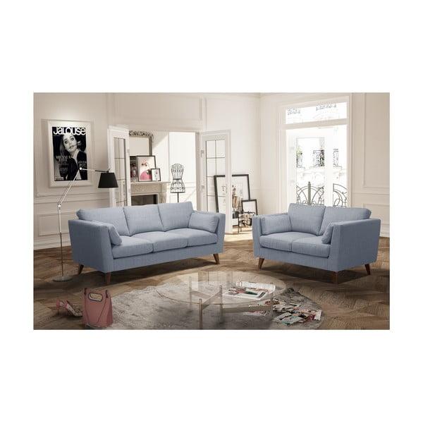Szary zestaw 2 sof dwuosobowej i trzyosobowej Jalouse Maison Elisa