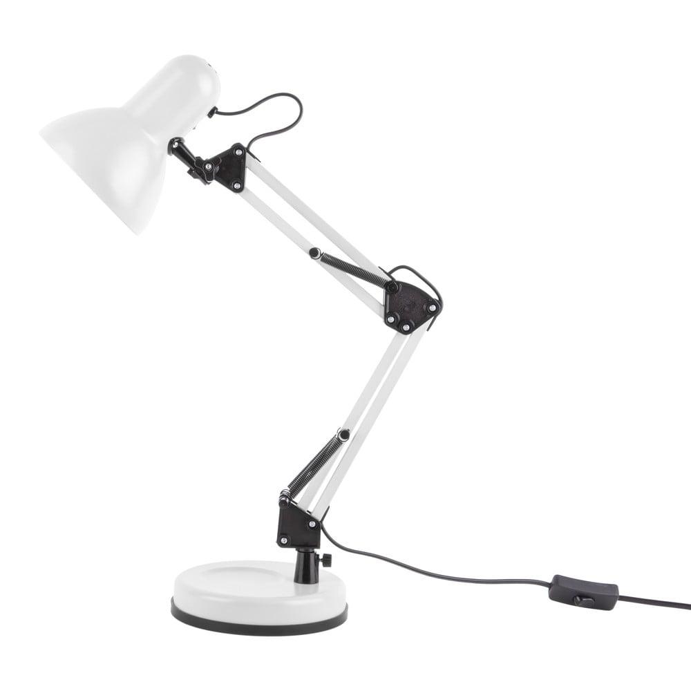 Biała lampa stołowa z czarnymi detalami Leitmotiv Hobby,ø12,5cm
