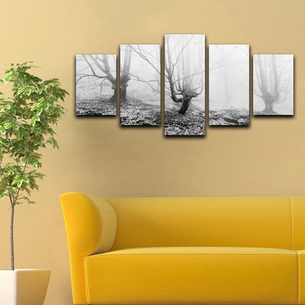 Wieloczęściowy obraz Black&White Winter, 100x50 cm