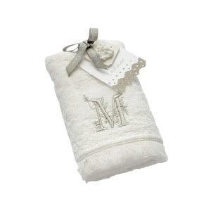 Ręcznik z inicjałem M, 30x50 cm