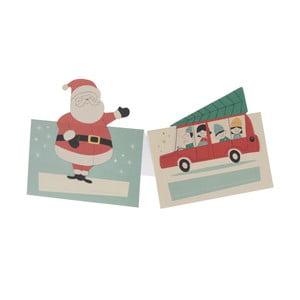 Komplet 6 etykiet ze świątecznym motywem Rex London Festive Family