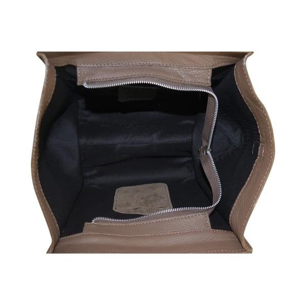 Skórzana torebka Rose, beżowa