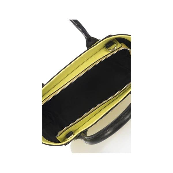 Skórzana torebka Krole Krista 28x32 cm, limetkowa