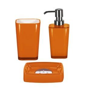 Zestaw akcesoriów łazienkowych Easy Orange