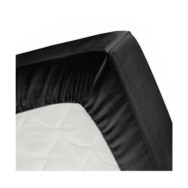Prześcieradło Split Black, 140x200 cm