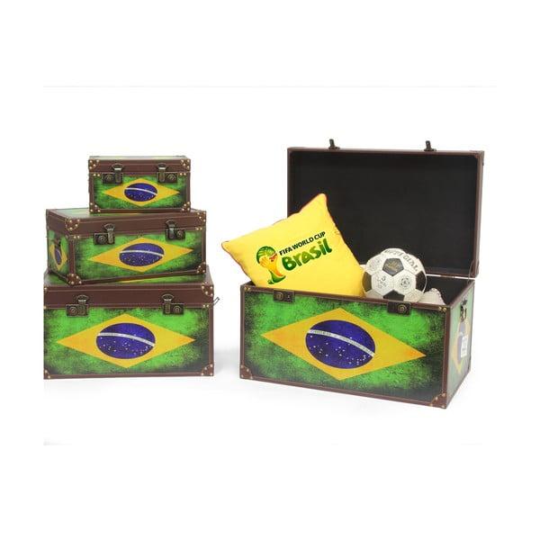 Zestaw 4 pojemników Baule Brazil