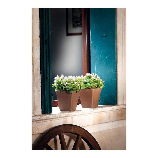 Doniczka ceramiczna Liscio 23 cm, kawowa