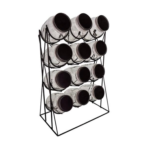 Komplet 12 słoiczków na przyprawy ze stojakiem Series