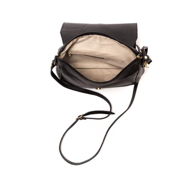 Czarna   torebka skórzana Ariela