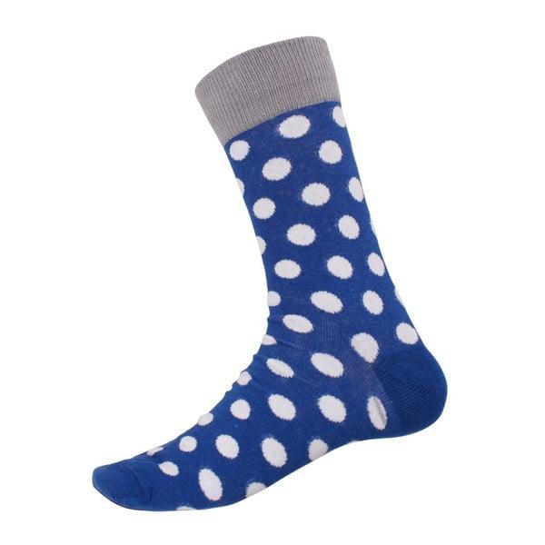 Skarpetki Big Dots Blue, rozm. 40-44