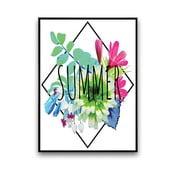 Plakat z kwiatami Summer, 30 x 40 cm