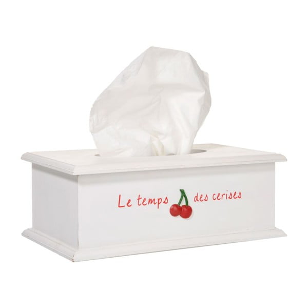 Pudełko na chusteczki La cerise, białe