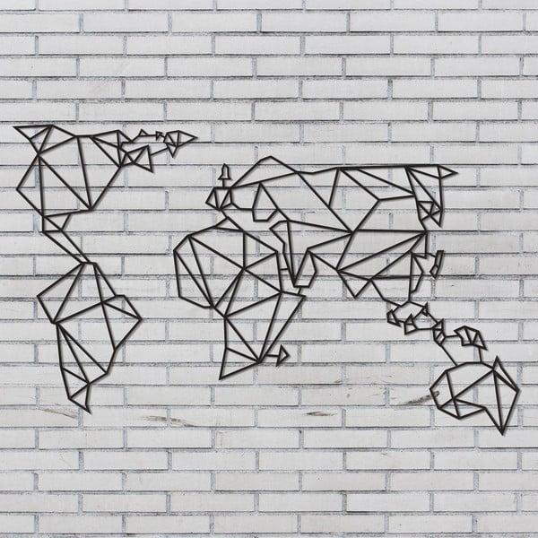 Czarna metalowa dekoracja ścienna Wall Decor World