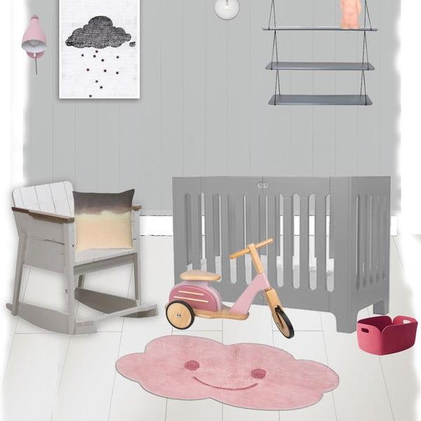 Różowy dywan dziecięcy Nattiot Nimbus, 75x115 cm