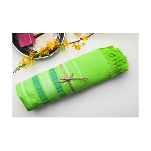 Ręcznik hamam Cotton Loincloth Green Three, 75x170 cm