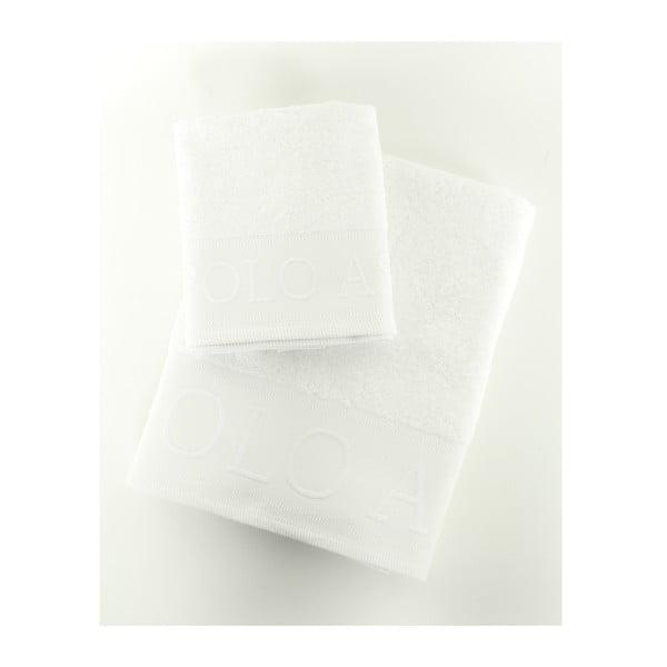 Komplet 2 ręczników Towel US Polo White, 50x90 i 90x150 cm