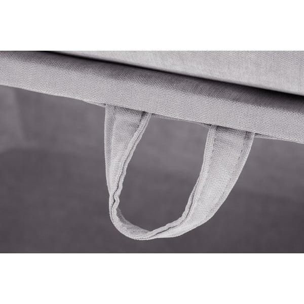 Trzyczęściowy komplet wypoczynkowy Jalouse Maison Serena, jasnoszary