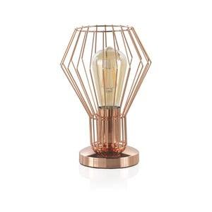 Metalowa lampa stołowa w kolorze miedzi Geese, wys. 25 cm