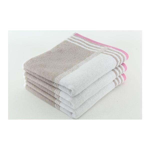 Zestaw 3 ręczników Happy Rock, 50x100 cm