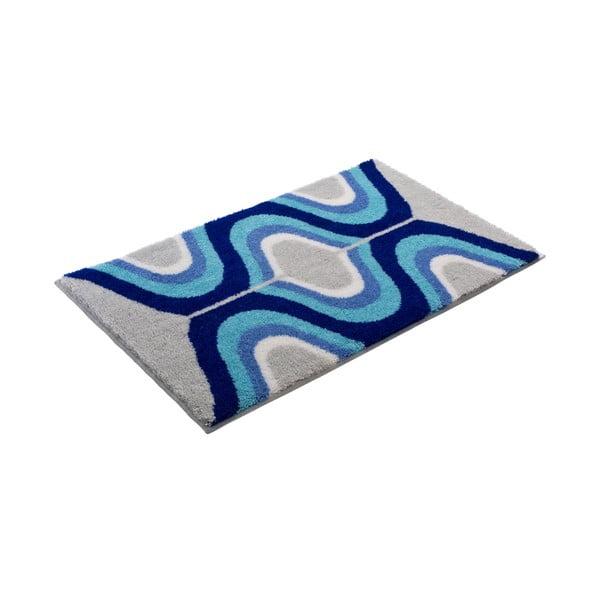 Dywanik łazienkowy Kolor My World XVII 60x100 cm, niebieski