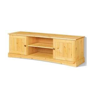 Brązowa 2-drzwiowa szafka pod TV z litego drewna sosnowego Støraa Yvonne